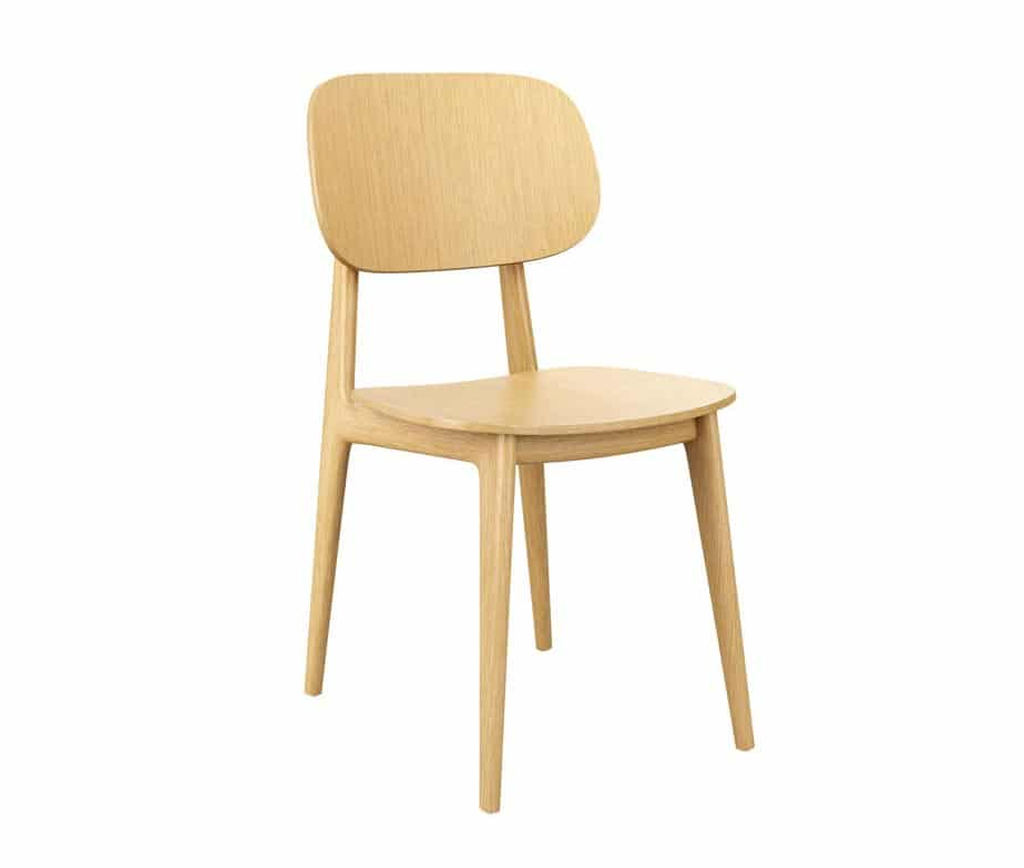 Foley Wooden Side Chair Oak