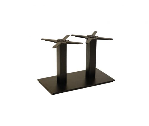 Forza Twin Pedestal Black Coffee Tables