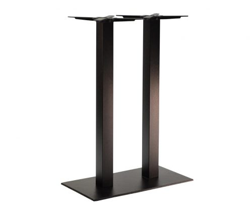 Forza Twin Ped Black Tall Poseur Tables