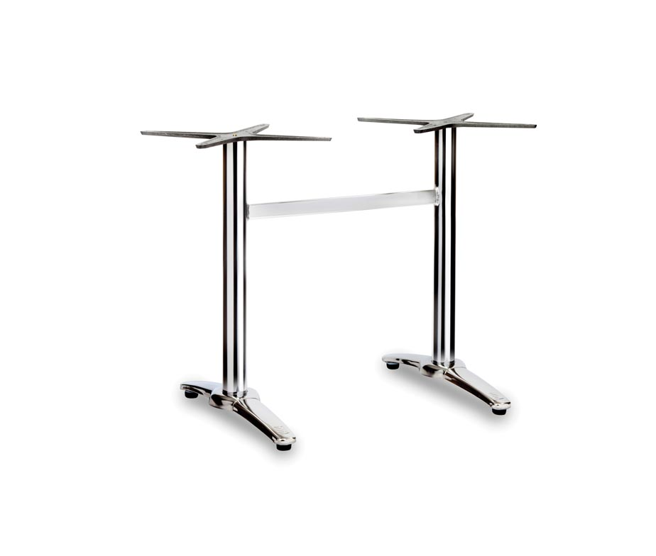 Fresh Twin Ped Outdoor Chrome Tables
