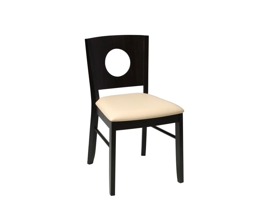 Gabriella wenge dining chair available with a brown or for Restaurant furniture