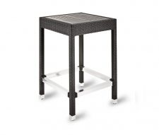 Genoa Poseur Table Black Rattan