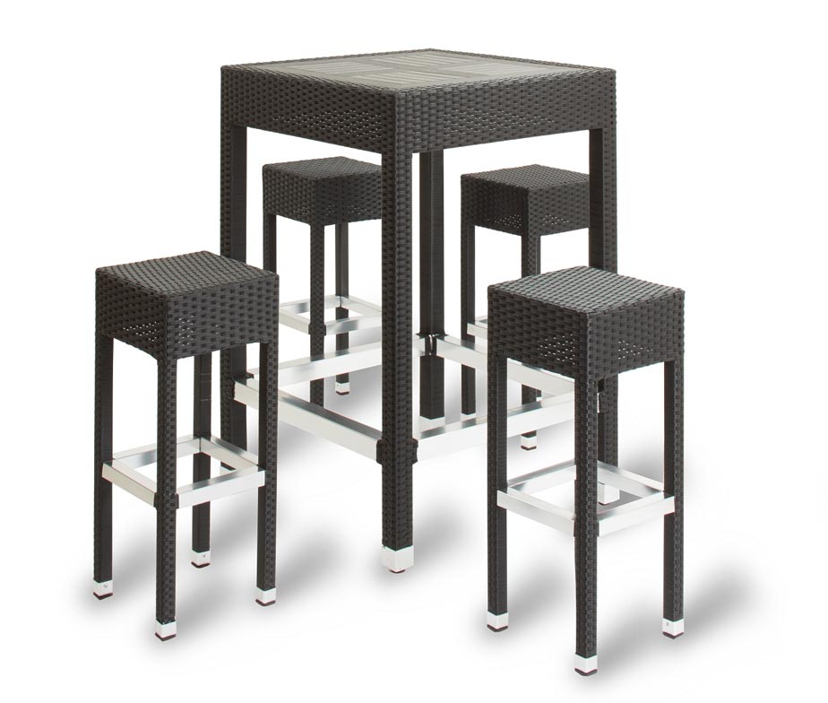 Genoa Outdoor Poseur Tables Made From High Quality Rattan Weave