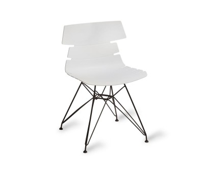 Hoxton Black Eiffel Chair White