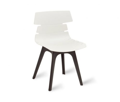Hoxton Chair Black Frame R White