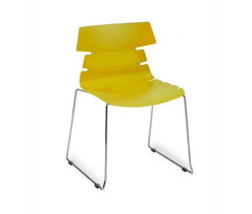 Yellow Hoxton Skid Chair