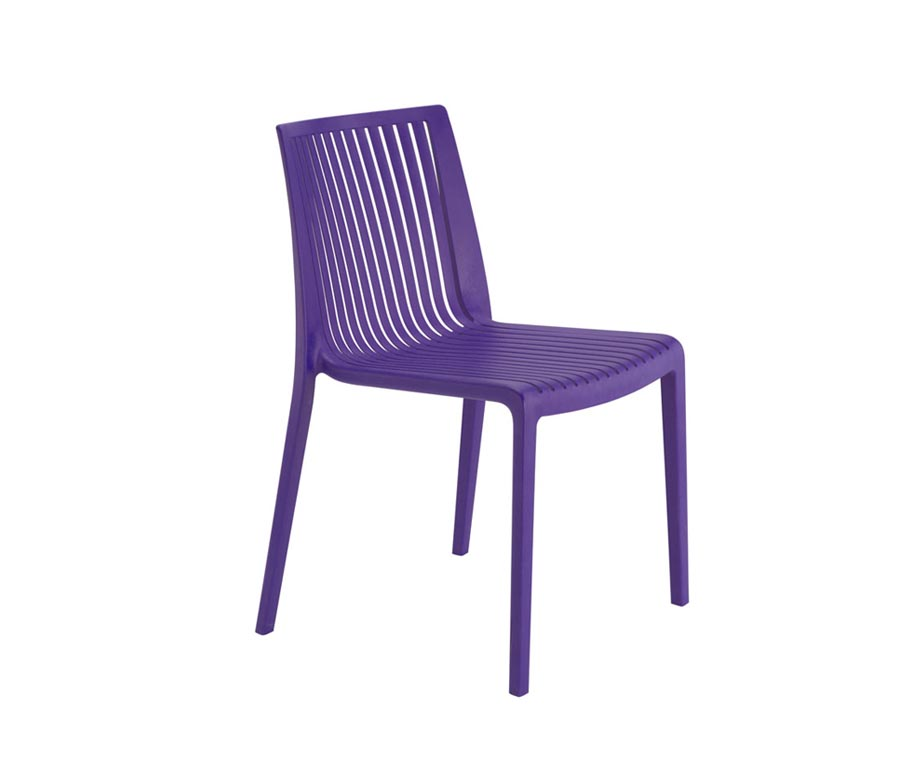 Ibiza outdoor dining chairs in red purple green grey for Outdoor dining chair