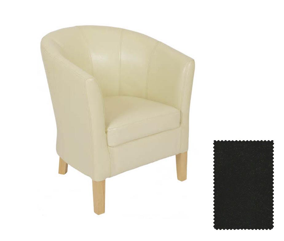 cream leather bucket chair jenny tub chairs by warner contract furniture 13600 | jenny tub chair black