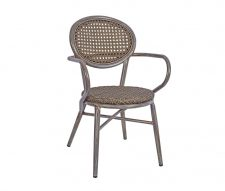 Lille Stacking Outdoor Armchairs Grey