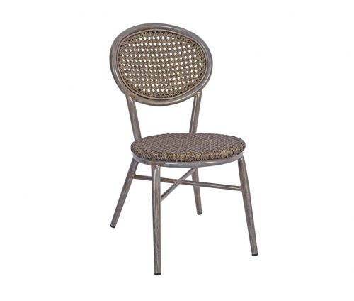 Lille Stacking Outdoor Side Chairs Grey
