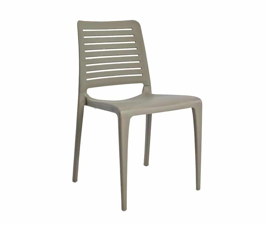 Lisbon Outdoor Cafe Chairs Taupe