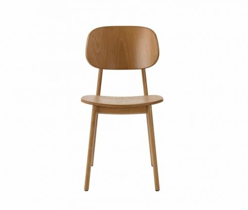 Lunar Side Chairs Oak - Cream Seat