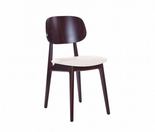 Lunar Side Chairs Walnut - Cream Seat