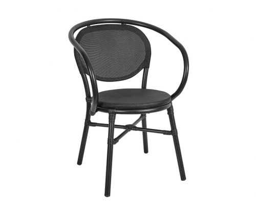 Lyon Stacking Outdoor Armchairs Black