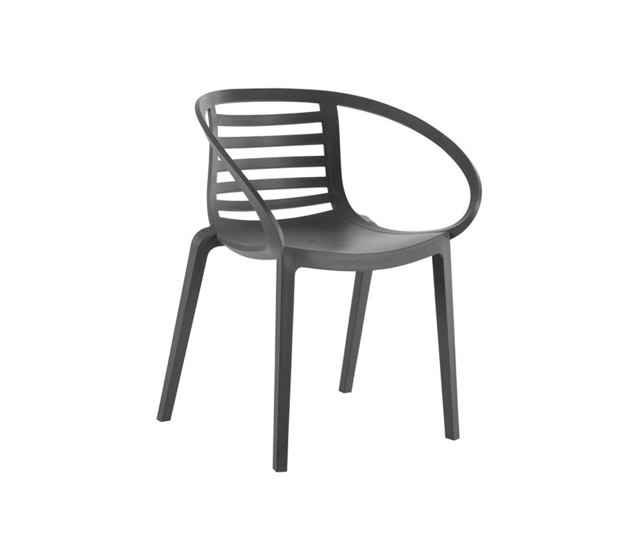 Malta Outdoor Armchair In Brown Or Grey Polypropylene