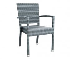 Mano Outdoor Rattan Armchair Grey