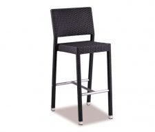 Mano Outdoor Bar Stool Black