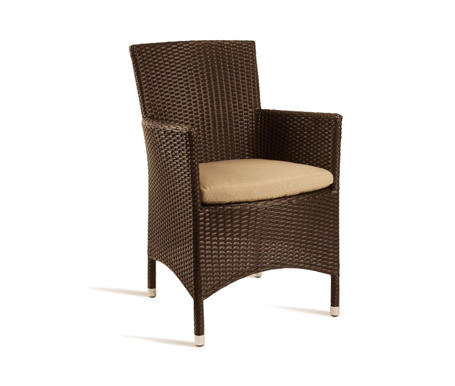 Mano Rattan Tub Chair Available In Brown Or Black Inc Cushion