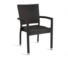 Mano Stacking Outdoor Armchair Black