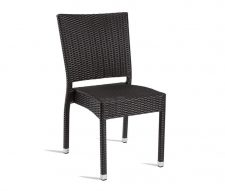 Mano Stacking Outdoor Dining Chair Black