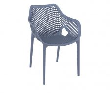 Matilda Platics Outdoor Armchairs Grey