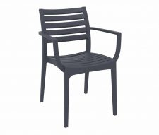 Melbourne Stacking Armchairs Grey