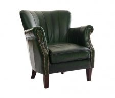 Memphis Leather Armchair Antique Green