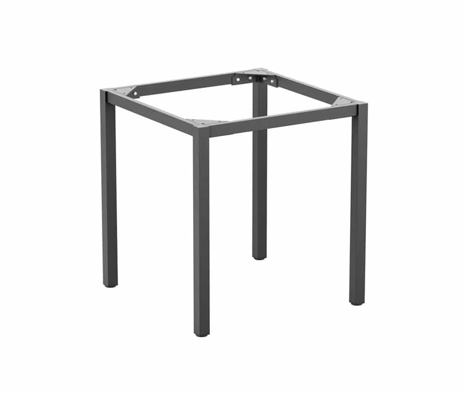 Small Square Dining Table | Meta 4 Leg Square Metal Table For Indoor Outdoor Use Grey