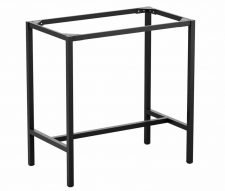 Meta Rectangular Poseur Table Base Black