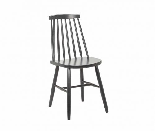Monte Carlo Spindle Back Chair RAL7016 Grey