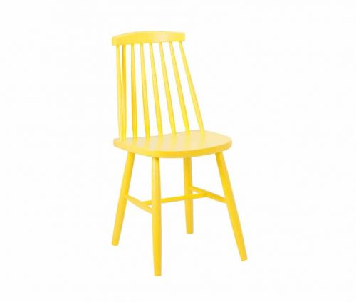Monte Carlo Spindle Back Chair RAL1018 Yellow