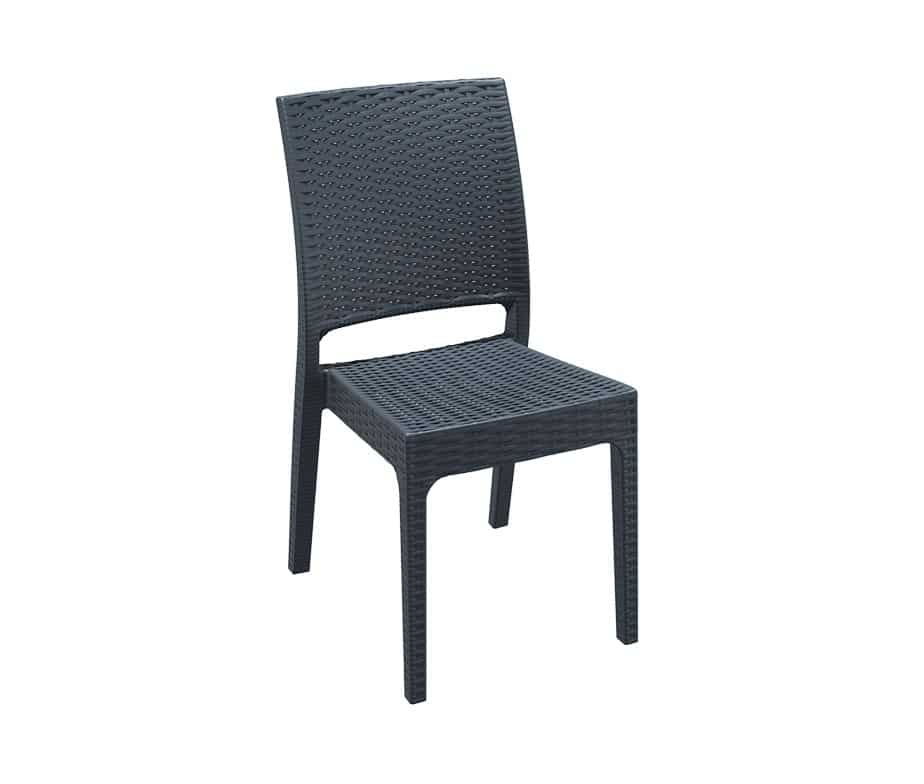 Outdoor Furniture In Naples Fl: Naples Flat Weave Stacking Outdoor Side Chair