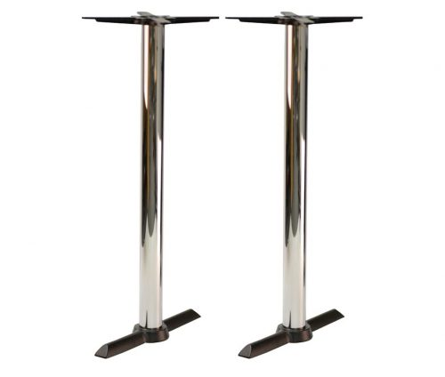 Orlando Chrome Twin Ped Poseur Tables
