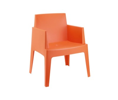 Outdoor Box Chair Orange
