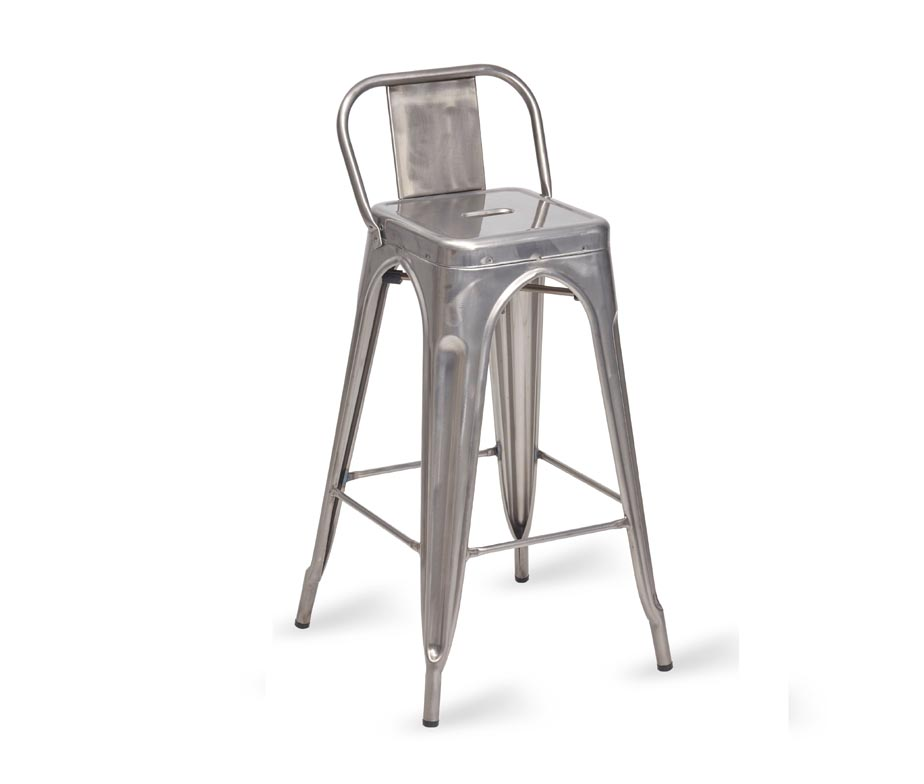 Paris Bar Stool Gun Metal Grey