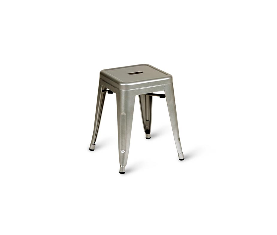 Paris Industrial Low Bar Stools For Cafes And Bars