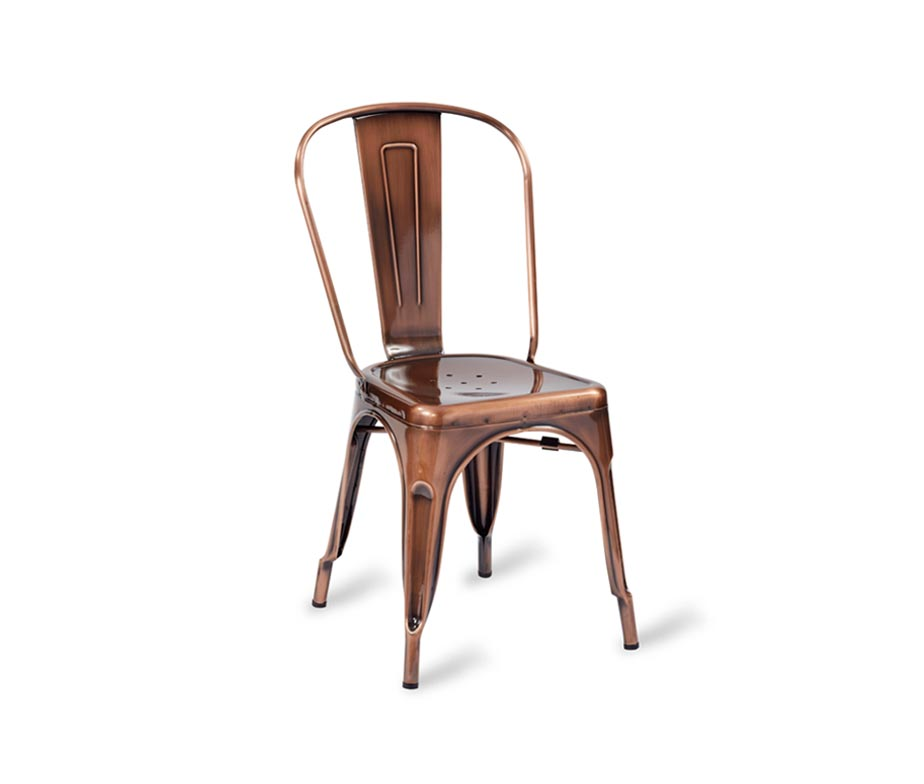 Paris Side Chair Vintage Copper Finish