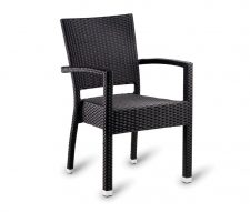 Parma Outdoor Rattan Armchairs Black