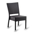 Parma Outdoor Rattan Dining Chairs Black