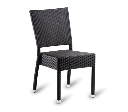 Parma Stacking Outdoor Chairs Brown Weave Contract Quality Buy Online