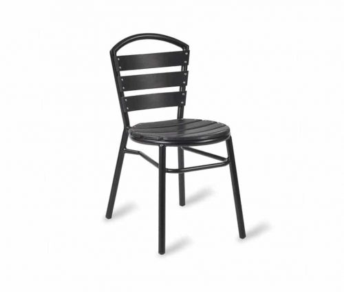 Pimlico Ezicare Side Chair Black Frame Black Slats