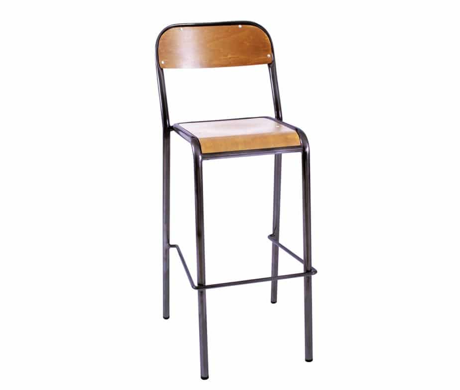 Pipe Vintage Bar Stools Designed For Commercial Use In