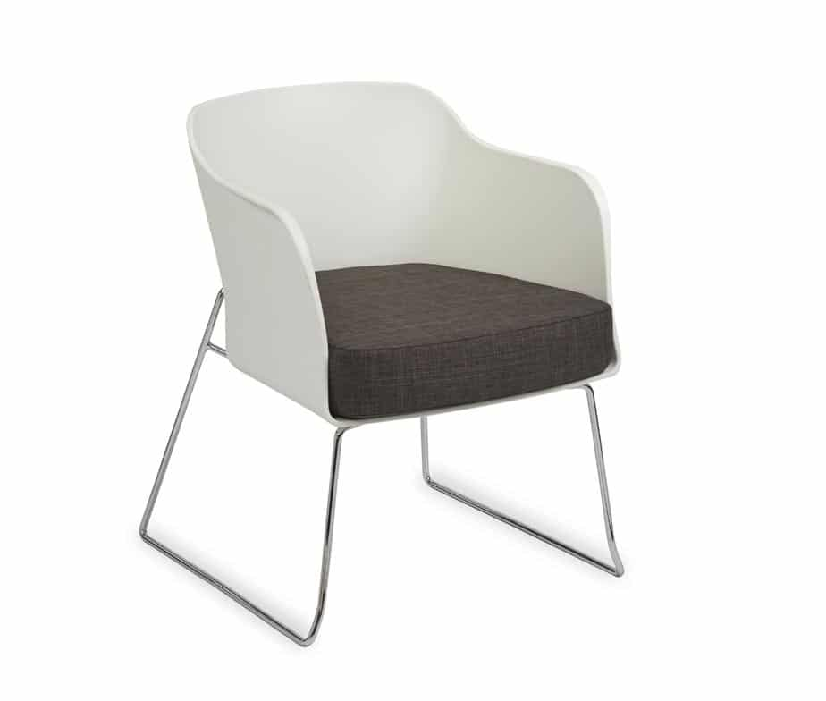 Poppy Tub Chair With Skid Frame Designed for Cafes & Break Out Areas