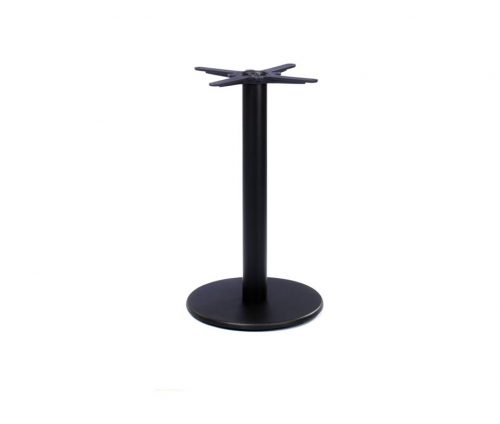 Profile Round Black Dining Table Base
