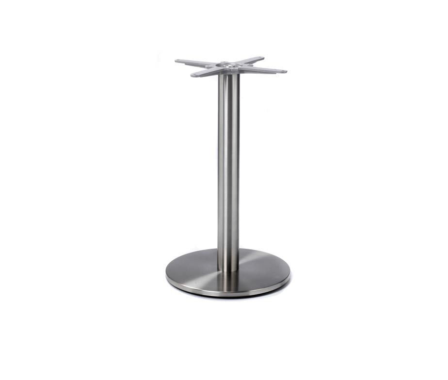 Profile Round Stainless Steel Dining Table Base