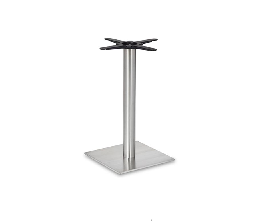 Coffee Height Round Small Table Base Round Column: Profile Dining Table Base Available In Black Or Steel