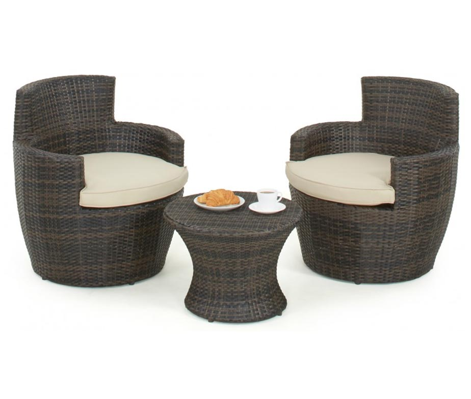 rattan stacking pod brown