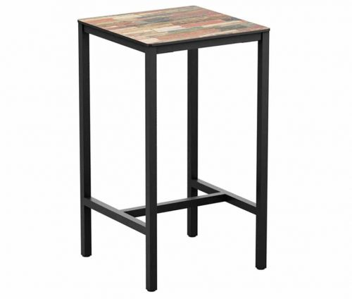 Walnut Outdoor Poseur Table Square