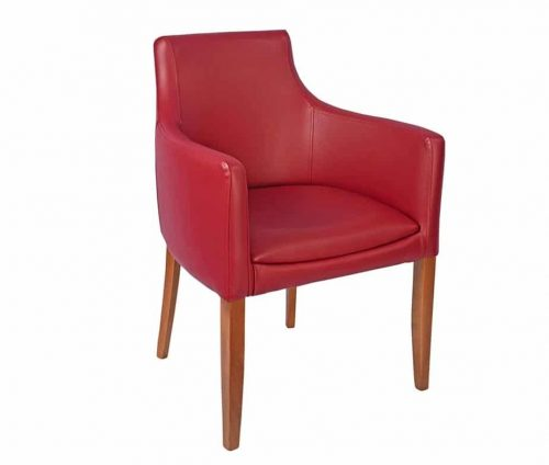 Repton Fully Upholstered Armchairs in Burgundy