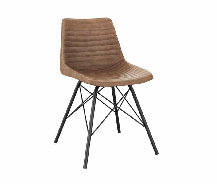 Retro Leather Dining Chair
